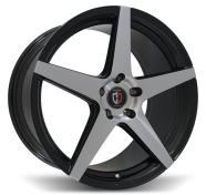 CURVA - C55-black & machined