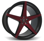 CURVA - C55 -satin black & red face