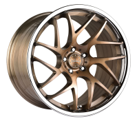 VERTINI WHEELS - RF1.4-brush bronze chrome lip