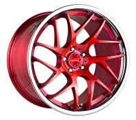 VERTINI WHEELS - RF1.4-brush candy red chrome lip