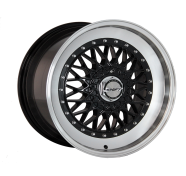 SHIFT WHEELS - CLUTCH-gloss black with polished lip