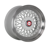 SHIFT WHEELS - CLUTCH-white center polished lip