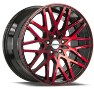 SHIFT WHEELS - FORMULA-gloss black machined face red