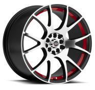 SPEC-1 - RACING SP-2-gloss black machined red line