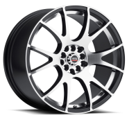 SPEC-1 - RACING SP-2-gloss black machined silver line
