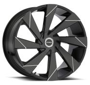 STRADA - MOTO -gloss black milled