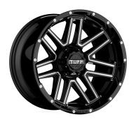 TUFF A.T. - T17-gloss black w/ milled spokes