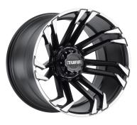TUFF A.T. - T21-matte black w/ machined flange