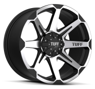 TUFF - T05-flat black machined face