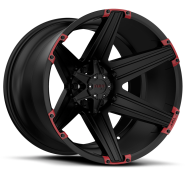 TUFF - T12-satin black red