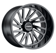 TUFF - T2A-gloss black w/ milled spoke