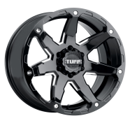 TUFF - T4A-gloss black w/ milled spoke