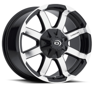 VISION OFF-ROAD -  413 VALOR-gloss black machined face