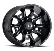VISION OFF-ROAD - 415 BOMB-gloss black milled spoke