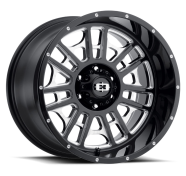 VISION OFF-ROAD - 418 WIDOW-gloss black milled spoke