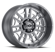 VISION OFF-ROAD - 418 WIDOW-satin grey milled spoke