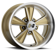 HURST WHEEL - DAZZLER-gold mirror machined face
