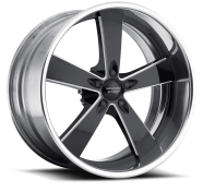 AMERICAN RACING - VN472  BURNOUT-2- piece black milled center with polished rim