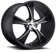 AMERICAN RACING - VN805  BLVD-satin black with machined face