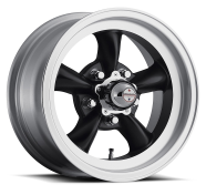 AMERICAN RACING - VN105  TORQ THRUST D-satin black with machined lip