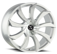 XCESS WHEELS - X01-brushed face silver