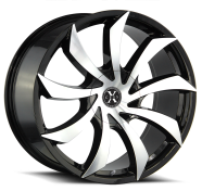 XCESS WHEELS - X01-gloss black machined