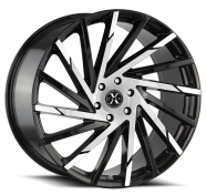 XCESS WHEELS - X02-gloss black machined