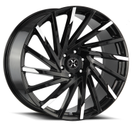 XCESS WHEELS - X02-gloss black machined tips