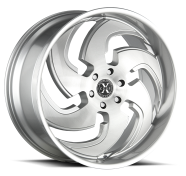 XCESS WHEELS - X03-brushed face silver
