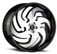 XCESS WHEELS - X03-gloss black machined