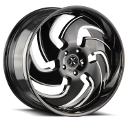 XCESS WHEELS - X03-gloss black machined tips
