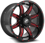 XF OFF-ROAD - XF-215-gloss black w/ red