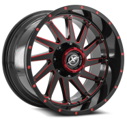 XF OFF-ROAD - XF-216-gloss black w/ red