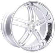 XIX WHEELS - X15-silver machined stainless steel lip