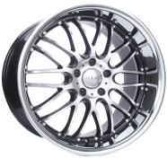 XIX WHEELS - X05-black machined stainless steel lip