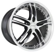 XIX WHEELS - X15-black machined stainless steel lip