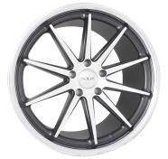 XIX WHEELS - X31-matte black machined stainless steel lip