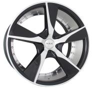 XIX WHEELS - X45-black machined face